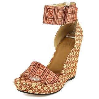 Theodora & Callum Mustique Women Open Toe Synthetic Wedge Heel