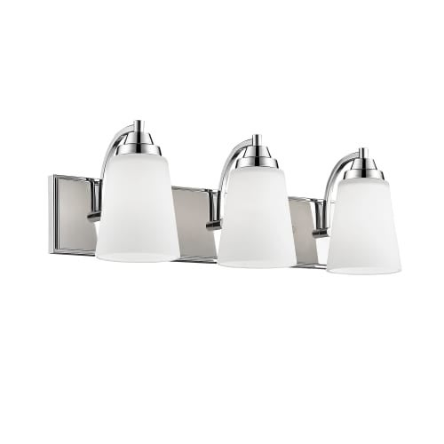 Millennium Lighting 1443 3 Light 24 Wide Bathroom Vanity Light With Glass Shades Free
