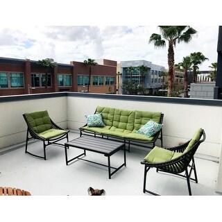 handy living nico indoor outdoor 4 piece dark brown sling set with
