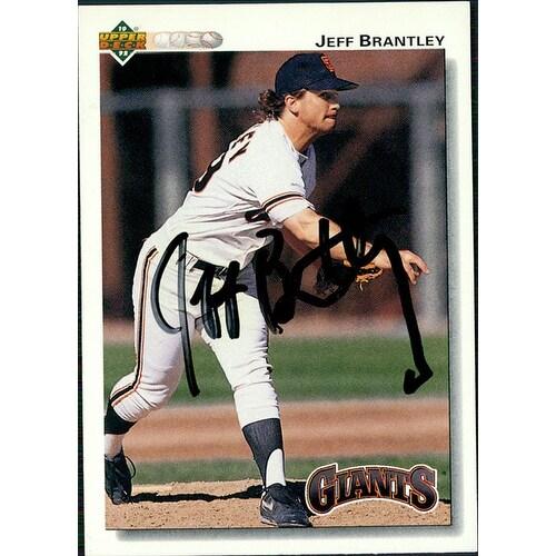 Signed Brantley Jeff San Francisco Giants 1992 Upper Deck Baseball Card Autographed