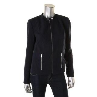 Calvin Klein Womens Twill Internal Liner Jacket - 6