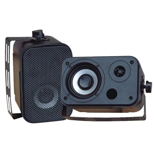 PYLE PRO PDWR30B 3.5'' Indoor/Outdoor Waterproof Speakers (Black)