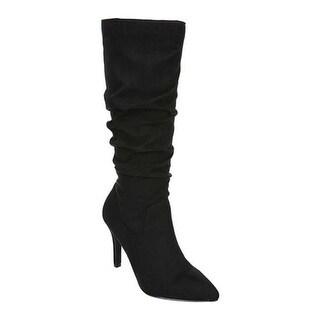 Fergalicious Women's Nori Slouch Boot Black Microfiber