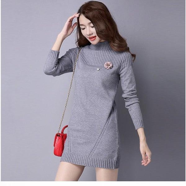 Half-Neck Sweater Korean Knit Bottoming Shirt. Opens flyout.