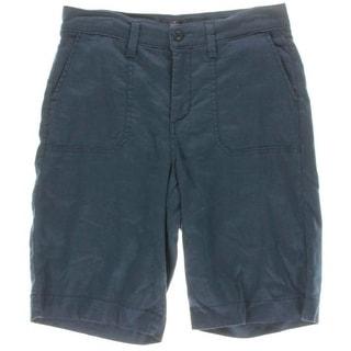 NYDJ Womens Catherine Linen Twill Bermuda Shorts