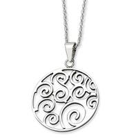 Chisel Stainless Steel Polished Fancy Swirl Pendant 22 Inch Necklace (2 mm) - 22 in