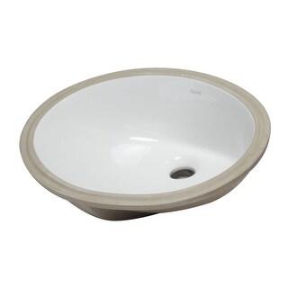 "Eago BC224  17-3/4"" Undermount Bathroom Sink with Overflow - White"