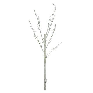 "44"" White Decorative Artificial Crafting or Display Birch Tree Trunk"