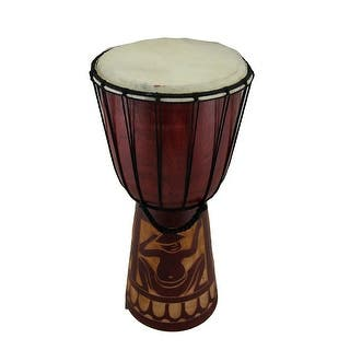 15 in. Mahogany Finish Hand-Carved Wood Drum Circle Djembe|https://ak1.ostkcdn.com/images/products/is/images/direct/3b19178dd27538e20484254c4b465f915765623b/15-in.-Mahogany-Finish-Hand-Carved-Wood-Drum-Circle-Djembe.jpg?impolicy=medium