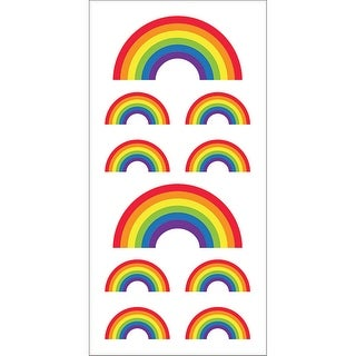 "Paper House Sticky Pix Stickers 2""X8""-Rainbows - rainbows"