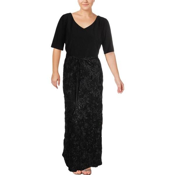 2e6657107f Shop Alex Evenings Womens Plus Evening Dress A-Line Special Occasion ...