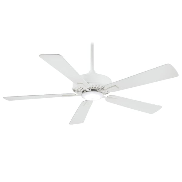 "MinkaAire Contractor Plus LED 52"" 5 Blade Indoor Ceiling Fan with Integrated LED Light and Remote Included"