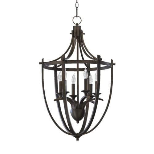 Quorum International 6729-6 6 Light Entry Fixture from the Winslet Collection
