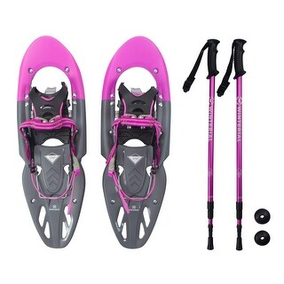 Winterial Women's Snowshoes and Poles / Pink