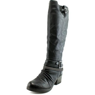 Carlos by Carlos Santana Candace Wide Calf   Round Toe Leather  Knee High Boot