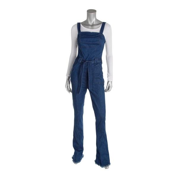 85bf97e86eb3 Shop Guess Womens Ella Jumpsuit Frayed Sleeveless - Free Shipping ...