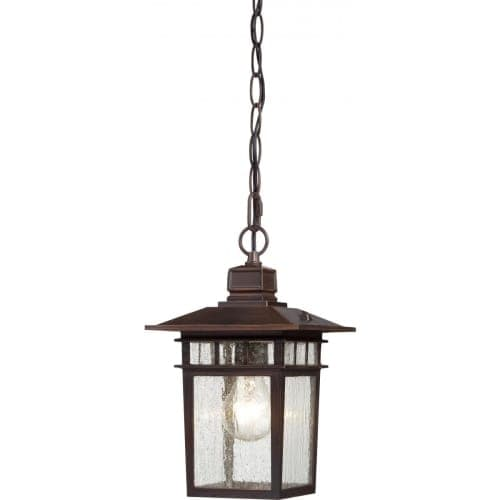 Nuvo Lighting 60/4955 Cove Neck Single-Light Hanging Lantern with Clear Seed Glass Panels