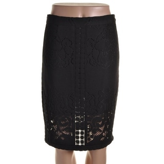 Sea New York Womens Lace Eyelet Pencil Skirt