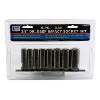 "9-pc. 3/8"" Drive Deep Impact SAE Socket Set"