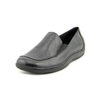 Walking Cradles Blick Women W Round Toe Synthetic Black Loafer