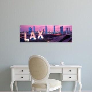 Easy Art Prints Panoramic Images's 'Airport, Los Angeles, California, USA' Premium Canvas Art