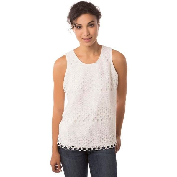 Studio West Womens Blouse Lace Pattern