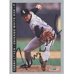 Terry Leach Chicago White Sox 1993 Fleer Autographed Card  slightly smudged signature  This item co
