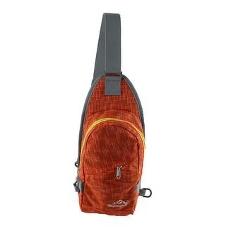 Unique Bargains HWJIANFENG Authorized Climbing Nylon Trekking Military Hiking Backpack Orange