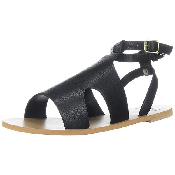 c976e4c89b6da Shop Roxy Women s Viera Flat Sandal - Black - 7 - On Sale - Free ...