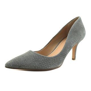 Charles By Charles David Sasha Women Pointed Toe Leather Gray Heels