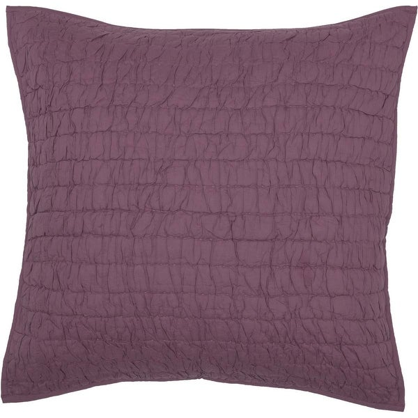 """Bella Taylor Home VHC Brands Rochelle Quilted Euro Sham 26""""x26"""", Amethyst"""