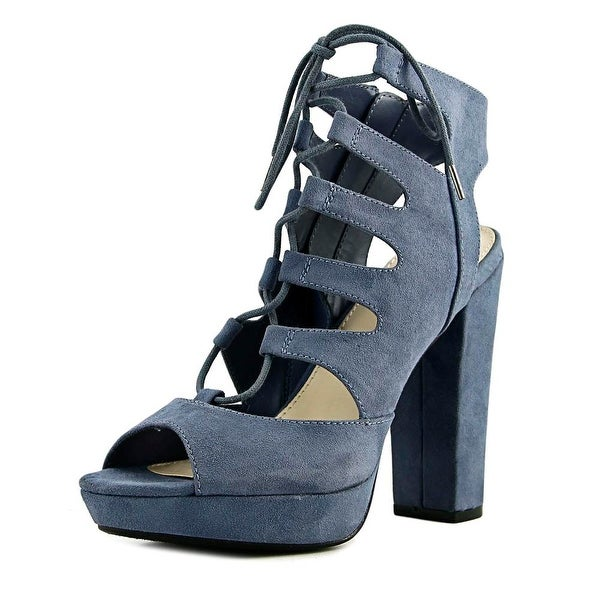 Bar III Nelly Women Open Toe Suede Blue Sandals