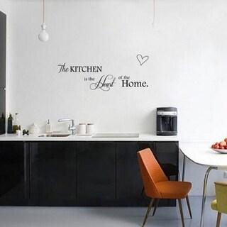 Removable Sticker Word Heart Quote Vinyl Art Wall Sticker Decal Kitchen Decor