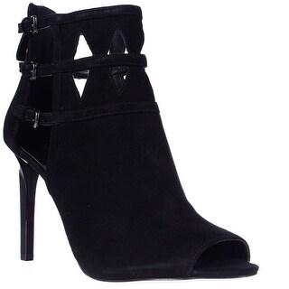 Nine West Laulani Cutout Open Toe Dress Booties - Black