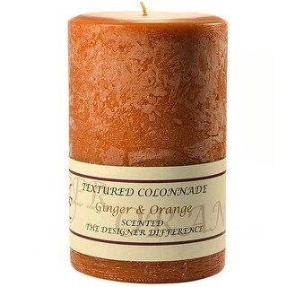 1 Pc Textured 4x6 Ginger and Orange Pillar Candles 4 in. diameterx6.25 in. tall