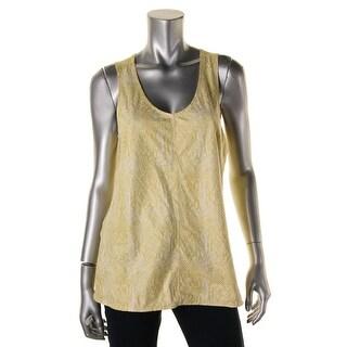 Calvin Klein Jeans Womens Snake Print Sleeveless Casual Top - M