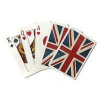 Union Jack - Distressed Letterpress - LP Artwork (Poker Playing Cards Deck)