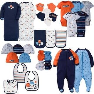 Gerber Baby Boys 30 Piece Essentials Gift Set, Lil Athlete - Blue