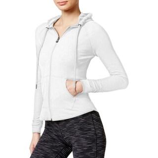 Calvin Klein Performance Womens Athletic Jacket Textured Quick Dry (Option: XxL - White)