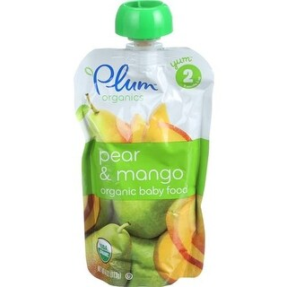 Plum Organics - Pear & Mango Baby Food ( 6 - 4 OZ)