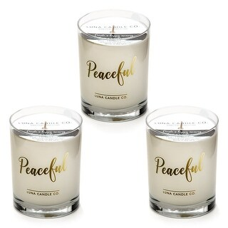 Pure Lavender Scented Candle, Premium Soy Wax, Slow Burn USA (3 Pack)