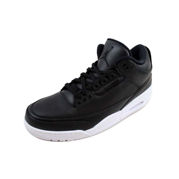 fea50ae6020b Shop Nike Men s Air Jordan III 3 Retro Black Black-White Cyber ...