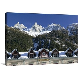Premium Thick-Wrap Canvas entitled Train Station, Mont Blanc, French Alps, France