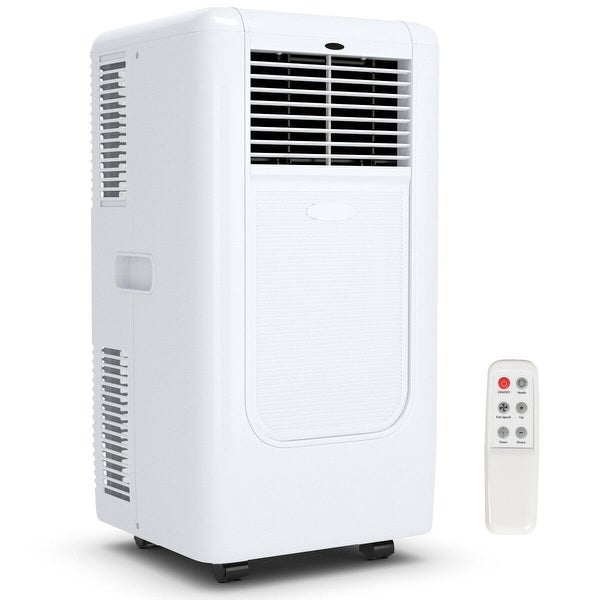 Costway Portable 10000BTU Air Conditioner Cooling Dehumidify Timer Remote w/ Window Kit