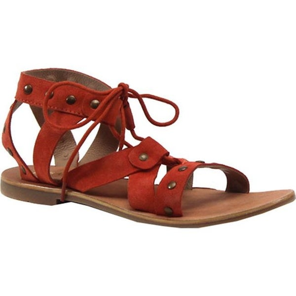 81de99f3f0c7 Shop Diba True Women s Train Stop Ghillie Sandal Mango Leather - On Sale -  Free Shipping Today - Overstock - 14795394
