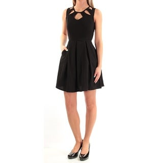 SPEECHLESS Womens New 1084 Black Cut Out Sleeveless Dress 2XS Juniors B+B