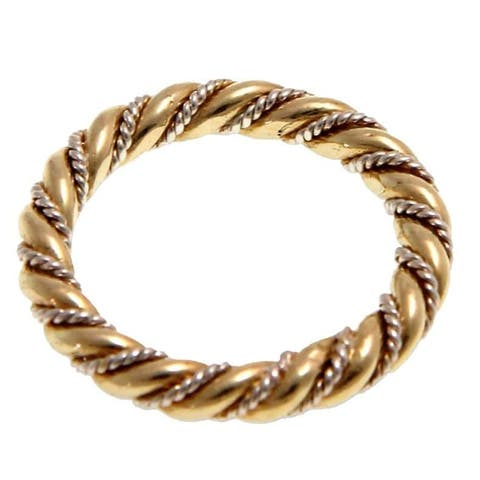 NOVICA Handmade Gold Overlay 'Balinese Baroque' Band Ring (Indonesia)