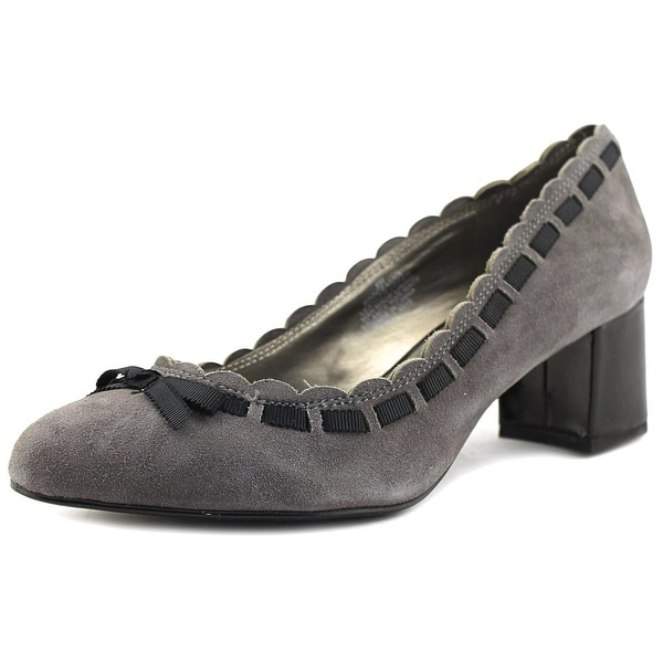 Bandolino Oceanna Women Round Toe Suede Gray Heels
