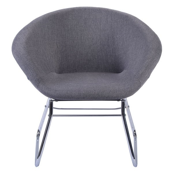 Shop Costway Modern Gray Accent Chair Leisure Arm Sofa Lounge Living