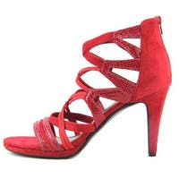 Impo Womens tadita Open Toe Casual Strappy Sandals - Scarlet Red - 7.5